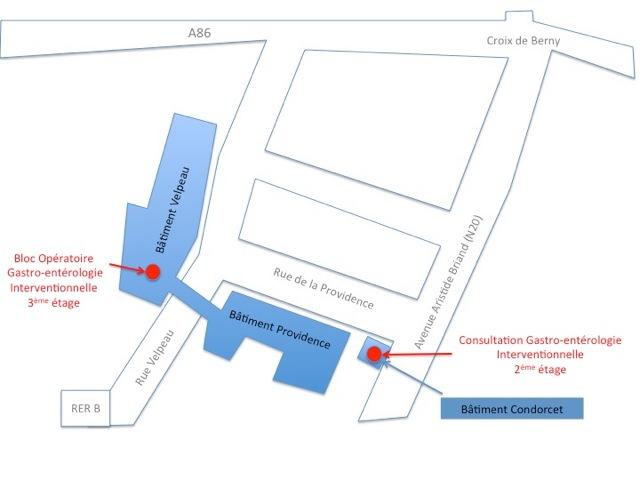 Plan Gastro-entérologues interventionnels - Centre Biliaire Interventionnel et Pancréatique Paris Sud
