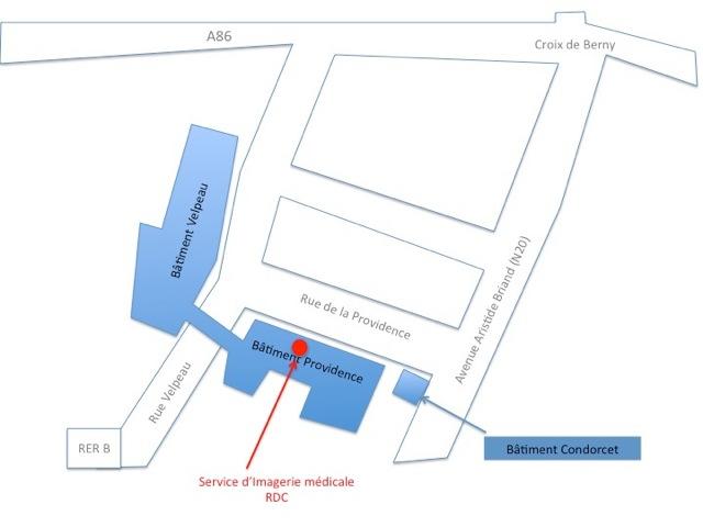 Plan radiologie - Centre Biliaire Interventionnel et Pancréatique Paris Sud