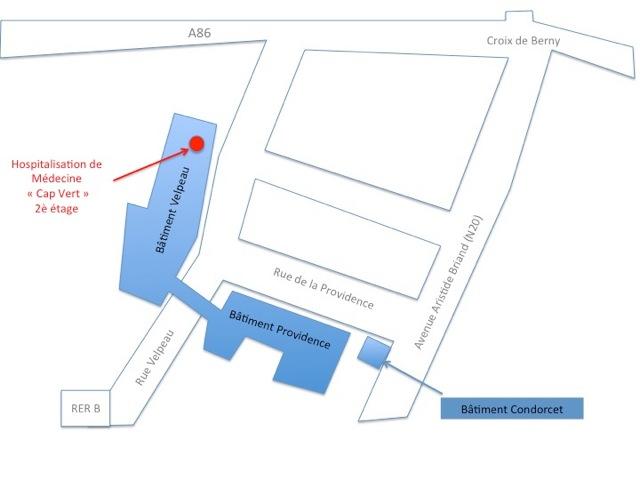Plan médecine interne - Centre Biliaire Interventionnel et Pancréatique Paris Sud