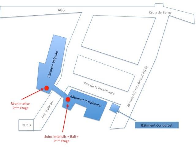 Plan réanimation - Centre Biliaire Interventionnel et Pancréatique Paris Sud